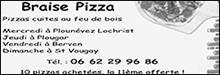 Braise Pizza partenaire du football Club Bodilis Plougar